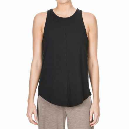 Lilla P Flame Voile Racerback Tank Top (For Women) in Black - Closeouts