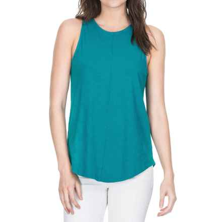 Lilla P Flame Voile Racerback Tank Top (For Women) in Deep Sea - Closeouts