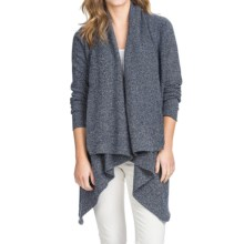 Lilla P Flecked Open-Front Cardigan Sweater (For Women) in Atlantic Fleck - Overstock