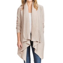 Lilla P Flecked Open-Front Cardigan Sweater (For Women) in Natural Fleck - Overstock