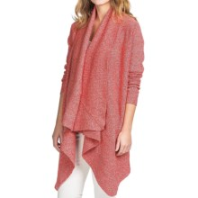 Lilla P Flecked Open-Front Cardigan Sweater (For Women) in Red Fleck - Overstock