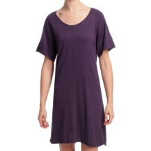 Lilla P Flutter Sleeve Sweater Dress - Short Sleeve (For Women) in Violet - Closeouts