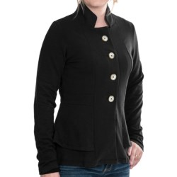 Lilla P French Terry Peplum Jacket (For Women) in Black