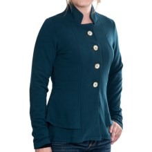 Lilla P French Terry Peplum Jacket (For Women) in Stream - Closeouts