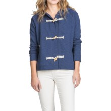 Lilla P French Terry Slub Hoodie (For Women) in Blue Terry - Closeouts