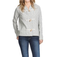 Lilla P French Terry Slub Hoodie (For Women) in Grey Terry - Closeouts