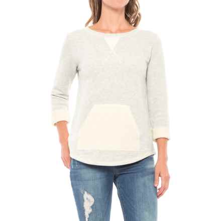 Lilla P French Terry Sweatshirt (For Women) in Grey Heather - Closeouts