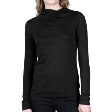Lilla P Funnel Neck Shirt - Pima Cotton, Long Sleeve (For Women) in Black - Closeouts