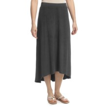 Lilla P Hi-Lo Skirt - Stretch, Low Waist (For Women) in Black - Closeouts