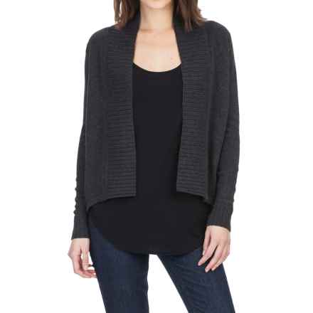Lilla P High-Low Cardigan Sweater (For Women) in Coal - Closeouts