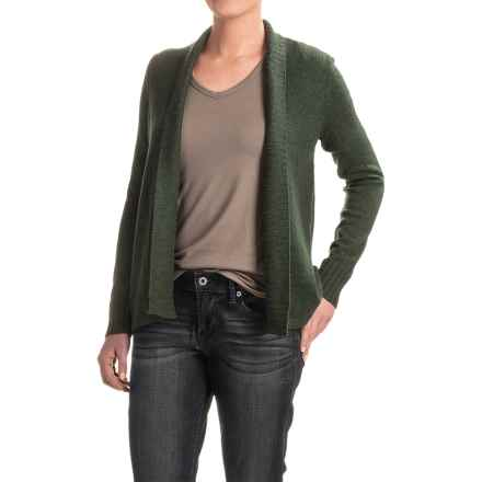 Lilla P High-Low Cardigan Sweater (For Women) in Spruce - Closeouts
