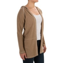 Lilla P Hooded Cardigan Sweater (For Women) in Brown Sugar - Overstock