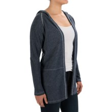 Lilla P Hooded Cardigan Sweater (For Women) in Slate Blue - Overstock