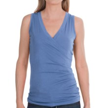 Lilla P Jersey Surplice Shirt - Pima Cotton, Sleeveless (For Women) in Azure - Closeouts