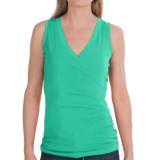 Lilla P Jersey Surplice Shirt - Pima Cotton, Sleeveless (For Women)