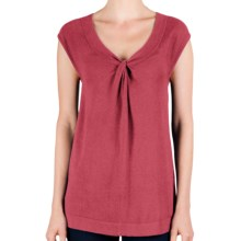 Lilla P Knot Front Tunic - Cotton-Modal, Dolman Sleeve (For Women) in Peony - Closeouts