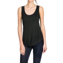 Lilla P Liquid Terry Seamed Tank Top (For Women) in Black Terry - Closeouts