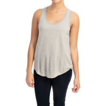 Lilla P Liquid Terry Seamed Tank Top (For Women) in Grey Terry - Closeouts