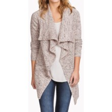 Lilla P Lofty Marl Cardigan Sweater (For Women) in Mulberry Marl - Overstock