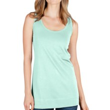 Lilla P Long Layering Tank Top - Pima Cotton (For Women) in Mint - Closeouts