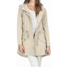 LILLA P LONG SLEEVE HOODED ANORAK COAT (For Women) in Canvas - Overstock