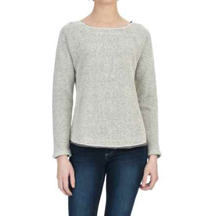 Lilla P Novelty Knit Raglan Shirt - Long Sleeve (For Women) in Antique White/Black - Closeouts