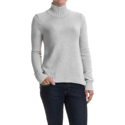Lilla P Novelty Stitch Turtleneck Sweater (For Women) in Soft Heather - Closeouts