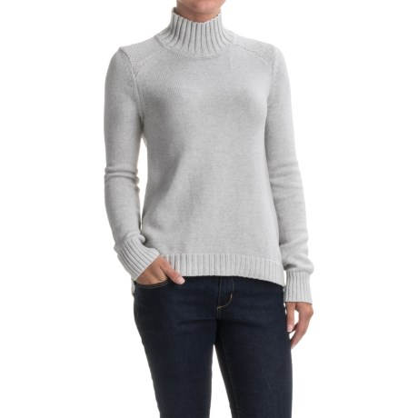 Lilla P Novelty Stitch Turtleneck Sweater (For Women) in Soft Heather