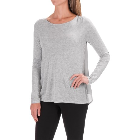 Lilla P Open-Back Swing Shirt - Long Sleeve (For Women) in Ash