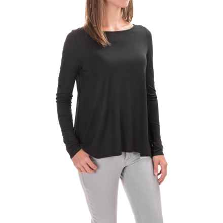 Lilla P Open-Back Swing Shirt - Long Sleeve (For Women) in Black - Closeouts