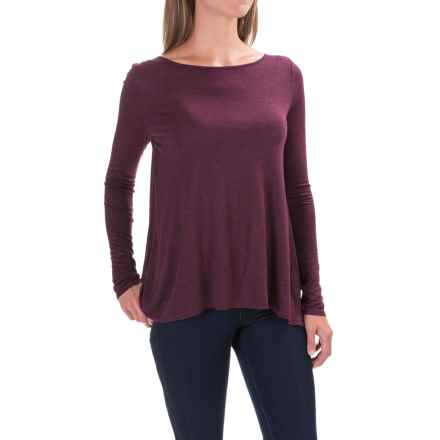 Lilla P Open-Back Swing Shirt - Long Sleeve (For Women) in Chianti - Closeouts