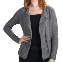 Lilla P Open Cardigan Sweater (For Women) in Chrome Lurex - Closeouts
