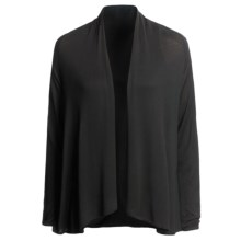 Lilla P Open Draped Cardigan Sweater (For Women) in Black - Closeouts