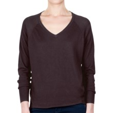 Lilla P Oversized Sweater - V-Neck (For Women) in Iron - Closeouts