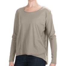Lilla P Oversized Whisper-Weight Shirt - Pima Cotton, Long Sleeve (For Women) in Pumice - Closeouts