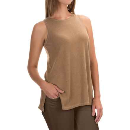 Lilla P Peached Knit Tank Top (For Women) in Brown Sugar - Overstock