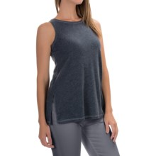 Lilla P Peached Knit Tank Top (For Women) in Slate Blue - Overstock