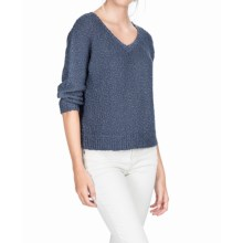 Lilla P Peapod Dolman Sleeve V-Neck Sweater - 3/4 Sleeve (For Women) in Dusk - Overstock