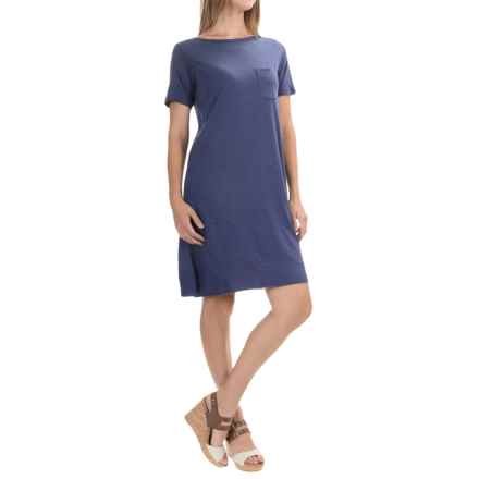 Lilla P Pima Cotton-Modal Dress - Elbow Sleeve (For Women) in Marlin - Overstock