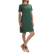 Lilla P Pima Cotton-Modal Dress - Elbow Sleeve (For Women) in Riverstone - Overstock