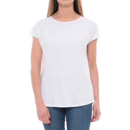 Lilla P Pima-Modal Easy T-Shirt - Short Sleeve (For Women) in White - Closeouts