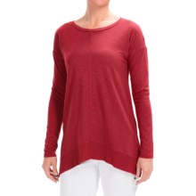 Lilla P Pima-Modal Rib Boat Neck Shirt - Long Sleeve (For Women) in Black Cherry - Closeouts