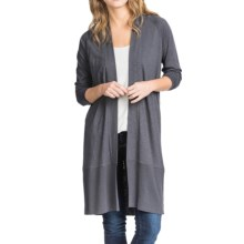 Lilla P Pima-Modal Slub Duster Sweater (For Women) in Shadow - Closeouts