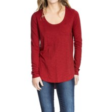 Lilla P Pima-Modal Slub Scoop Neck Shirt - Long Sleeve (For Women) in Black Cherry - Closeouts