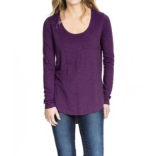 Lilla P Pima-Modal Slub Scoop Neck Shirt - Long Sleeve (For Women) in Boysenberry - Closeouts