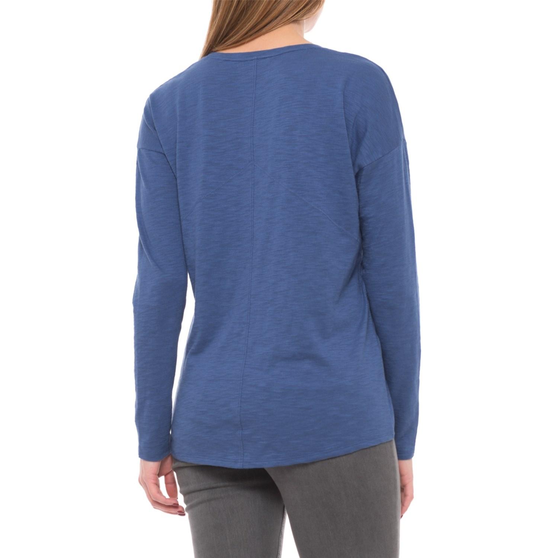 Lilla P Pima Modal Slub Seamed Shirt For Women