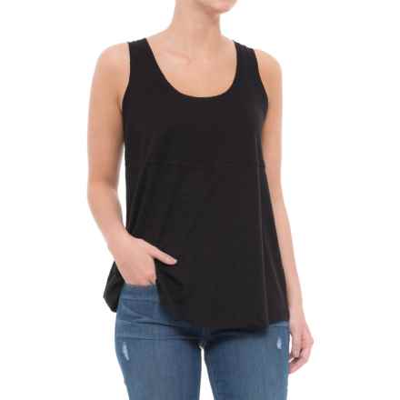 Lilla P Pima-Modal Slub-Seamed Tank Top (For Women) in Black - Closeouts
