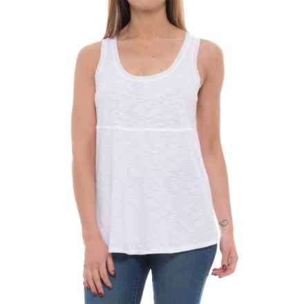 Lilla P Pima-Modal Slub-Seamed Tank Top (For Women) in White - Closeouts