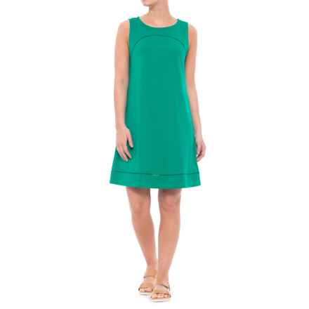 Lilla P Pima-Modal Stretch Seamed Shift Dress - Sleeveless (For Women) in Mallard - Closeouts