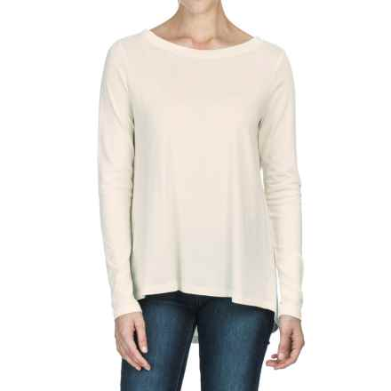 Lilla P Pleat Back Shirt - Pima Cotton-Modal, Long Sleeve (For Women) in Anitique White - Closeouts